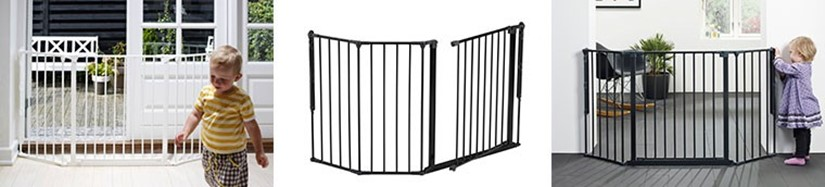 A Configure Flex M é uma barreira ideal para manter o seu filho longe de escadas ou aberturas largas.